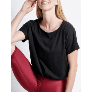 Cropped μπλούζα με λάστιχο - 48230-1